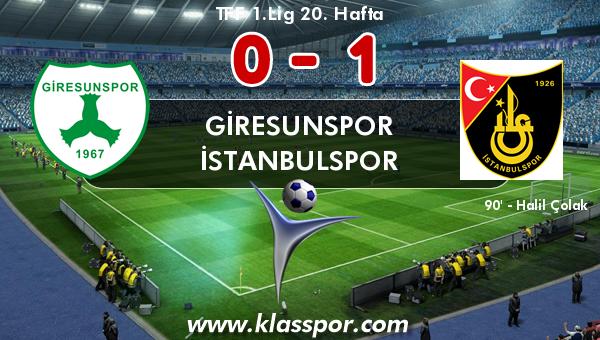 Giresunspor 0 - İstanbulspor 1
