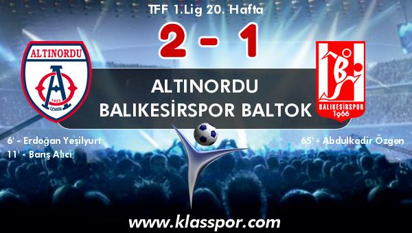 Altınordu 2 - Balıkesirspor Baltok 1
