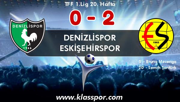 Denizlispor 0 - Eskişehirspor 2