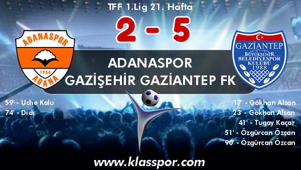 Adanaspor 2 - Gazişehir Gaziantep FK 5