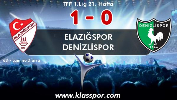 Elazığspor 1 - Denizlispor 0