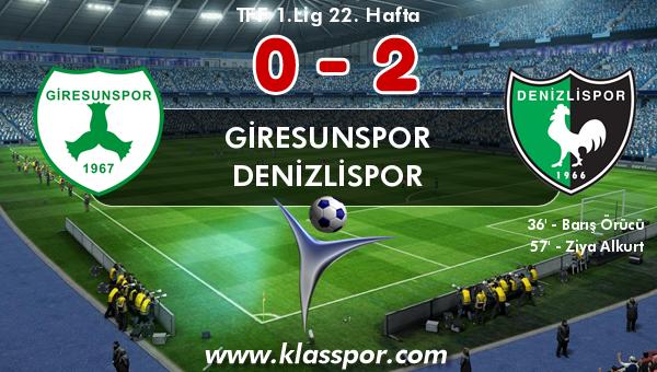 Giresunspor 0 - Denizlispor 2