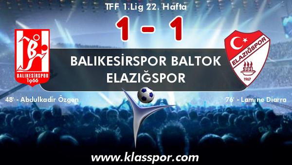 Balıkesirspor Baltok 1 - Elazığspor 1