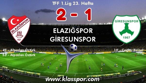 Elazığspor 2 - Giresunspor 1