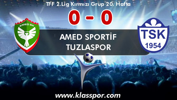 Amed Sportif 0 - Tuzlaspor 0
