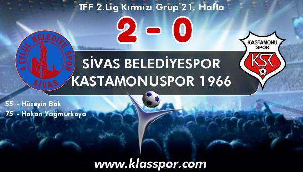 Sivas Belediyespor 2 - Kastamonuspor 1966 0