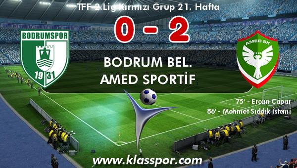 Bodrum Bel. 0 - Amed Sportif 2