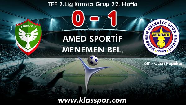 Amed Sportif 0 - Menemen Bel. 1