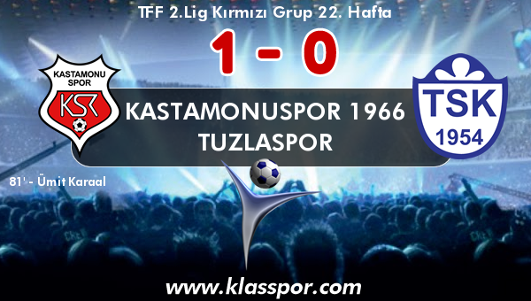 Kastamonuspor 1966 1 - Tuzlaspor 0