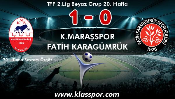 K.Maraşspor 1 - Fatih Karagümrük 0