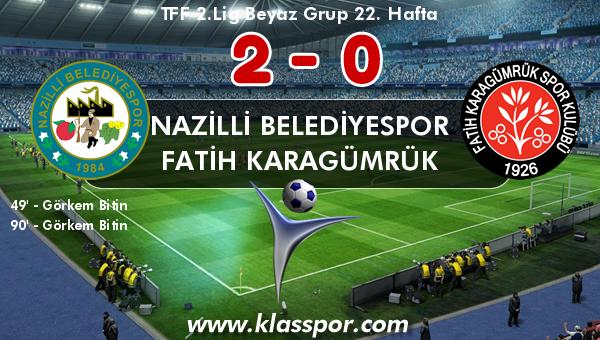 Nazilli Belediyespor 2 - Fatih Karagümrük 0