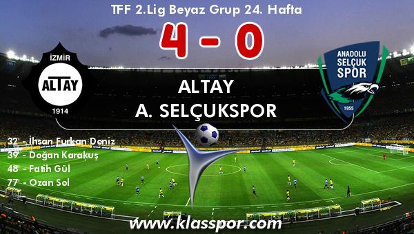 Altay 4 - A. Selçukspor 0