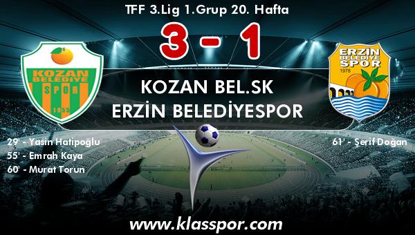 Kozan Bel.SK 3 - Erzin Belediyespor 1