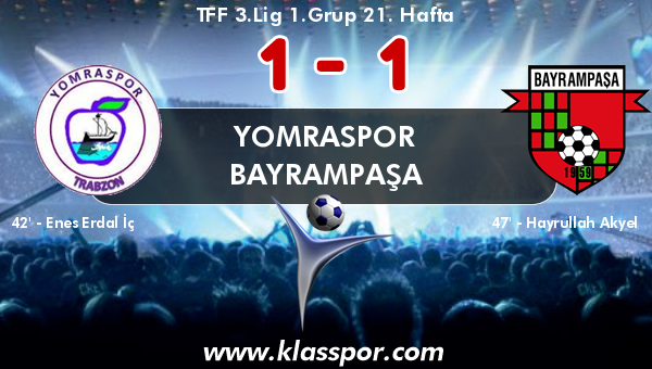 Yomraspor 1 - Bayrampaşa 1
