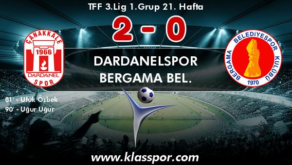 Dardanelspor 2 - Bergama Bel. 0