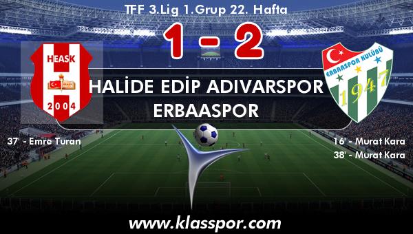 Halide Edip Adıvarspor 1 - Erbaaspor 2