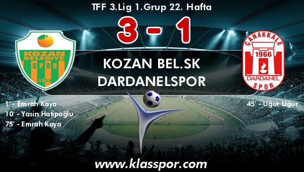 Kozan Bel.SK 3 - Dardanelspor 1