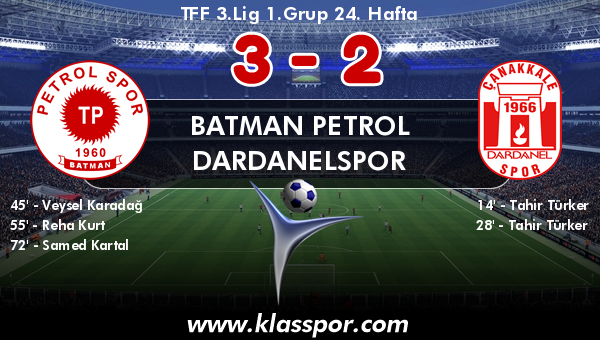Batman Petrol 3 - Dardanelspor 2