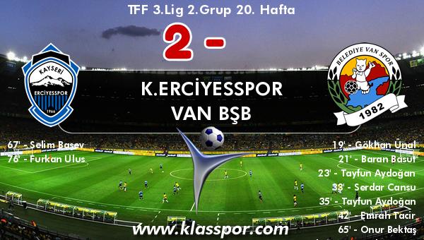 K.Erciyesspor 2 - Van BŞB 10