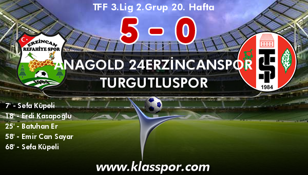 Anagold 24Erzincanspor 5 - Turgutluspor 0