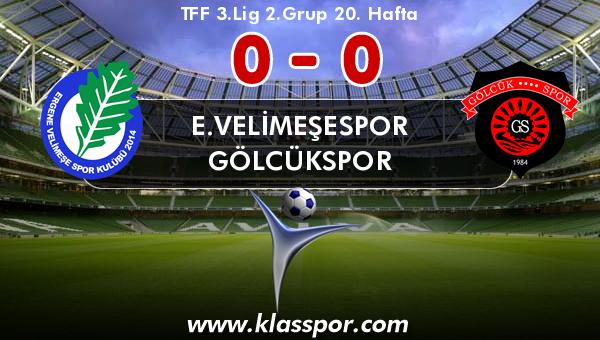 E.Velimeşespor 0 - Gölcükspor 0