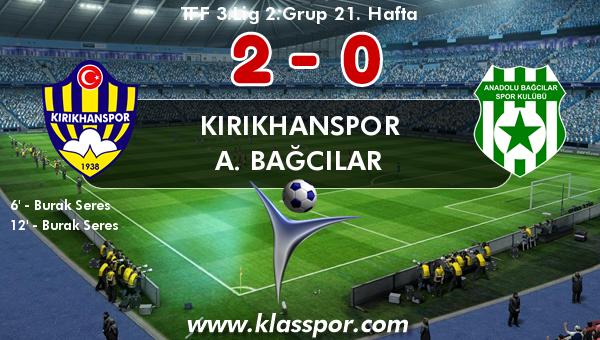 Kırıkhanspor 2 - A. Bağcılar 0
