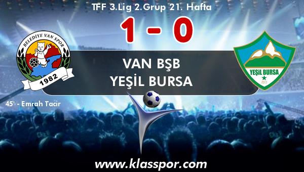 Van BŞB 1 - Yeşil Bursa 0