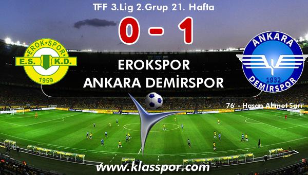 Erokspor 0 - Ankara Demirspor 1