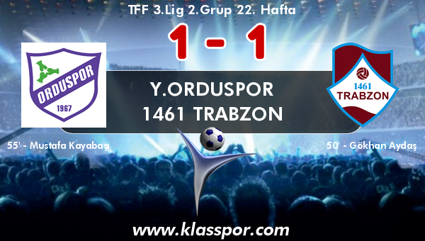 Y.Orduspor 1 - 1461 Trabzon 1