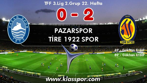 Pazarspor 0 - Tire 1922 Spor 2