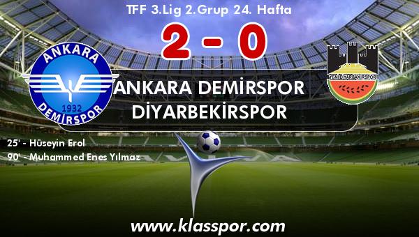 Ankara Demirspor 2 - Diyarbekirspor 0