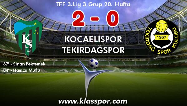 Kocaelispor 2 - Tekirdağspor 0