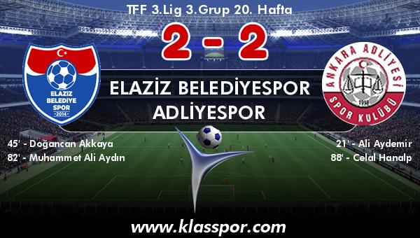 Elaziz Belediyespor 2 - Adliyespor 2