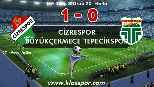 Cizrespor 1 - Büyükçekmece Tepecikspor 0