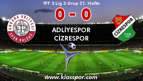 Adliyespor 0 - Cizrespor 0