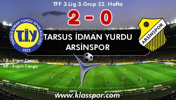 Tarsus İdman Yurdu 2 - Arsinspor 0