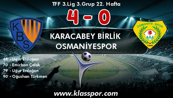 Karacabey Birlik  4 - Osmaniyespor 0