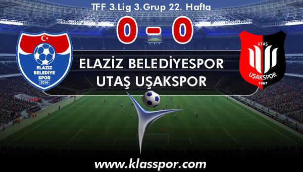 Elaziz Belediyespor 0 - Utaş Uşakspor 0