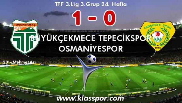 Büyükçekmece Tepecikspor 1 - Osmaniyespor 0