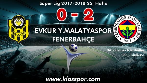 Evkur Y.Malatyaspor 0 - Fenerbahçe 2