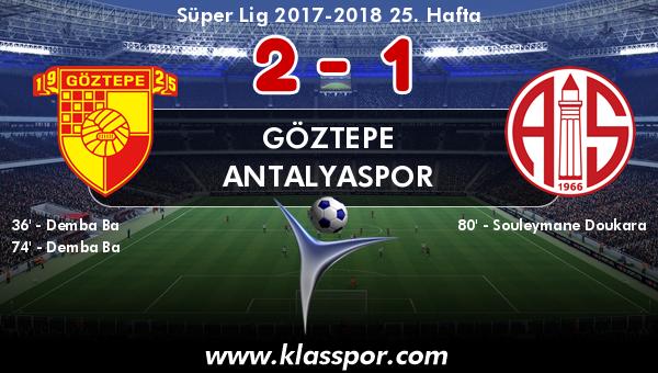 Göztepe 2 - Antalyaspor 1