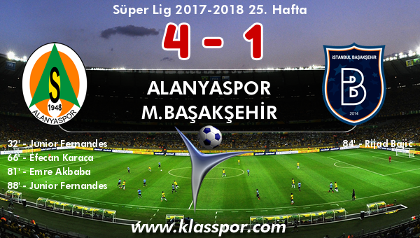 Alanyaspor 4 - M.Başakşehir 1