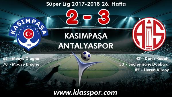 Kasımpaşa 2 - Antalyaspor 3