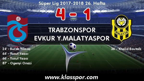 Trabzonspor 4 - Evkur Y.Malatyaspor 1