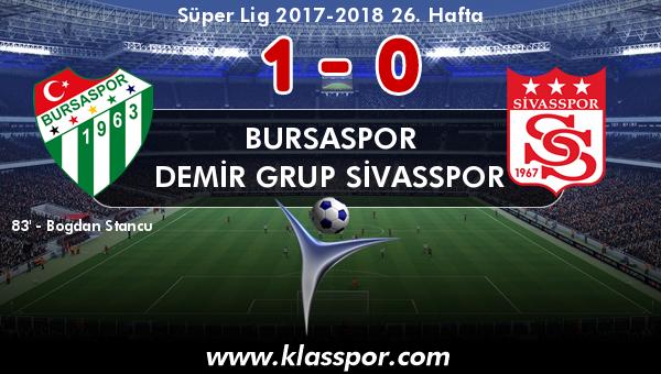 Bursaspor 1 - Demir Grup Sivasspor 0