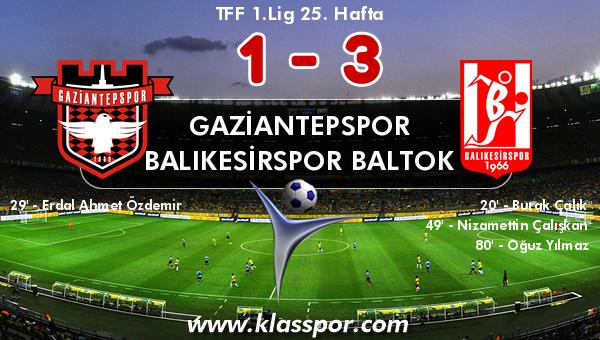 Gaziantepspor 1 - Balıkesirspor Baltok 3
