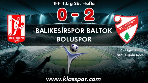Balıkesirspor Baltok 0 - Boluspor 2