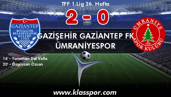 Gazişehir Gaziantep FK 2 - Ümraniyespor 0