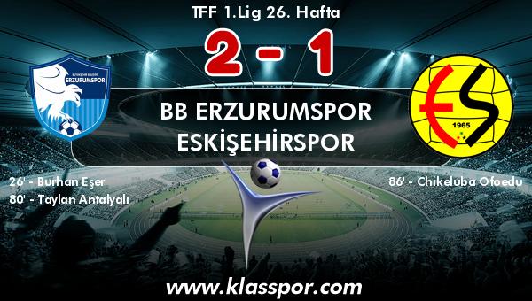 BB Erzurumspor 2 - Eskişehirspor 1