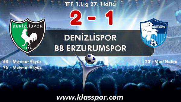 Denizlispor 2 - BB Erzurumspor 1